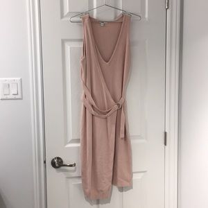 GUESS Pink Wrap Sweater Dress - Size M